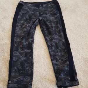 ladies title nine sz 14 gray black athletic pant